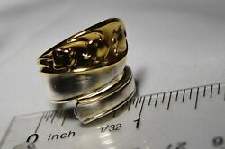 Gorham Lily Of The Valley Sterling Silver Spoon Ring Gold Two Tone Free Sh Gfb