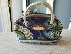 SPARTINA  449 SMALL FLORAL DESIGN  MAKEUP  CASE