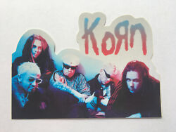 Korn Band Group Picture Diecut Sticker Roughly 3.75x2.25 Circa 1990and039s Ps3035c