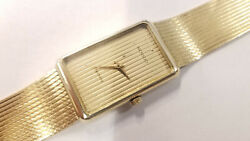 14k Gold Movado Unisex Watch Vintage 46.2 Grams 7 Band 32mm X 21mm Wow