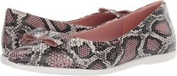 Women's Cole Haan ZerØgrand Bow Skimmer Snake Embossed Leather Slip-ons Size 9