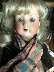 Vintage 1800s Doll Bisque Wood Ann And Marseille Germany 390 Eyes Move Teeth