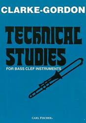 O4968 - Technical Studies For Bass Clef Instruments - Paperback By Clarke - Good