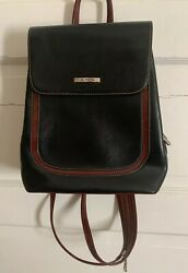 La Philipe Designer Small Backpack With Adjustable Straps Black And Brown NWOT