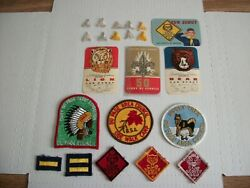 Vintage Boy Scout-cub Scout-lot Of Badges-patches And Other Stuff Early 1960and039s
