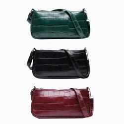 Retro Handbag Women Crocodile Leather Travel Totes Office Lady Shoulder Bag $10.05