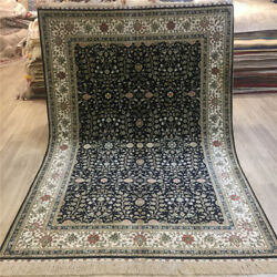 Yilong 4.5and039x6.5and039 Vintage Handmade All Over Carpets Hand Knotted Silk Rug 203a