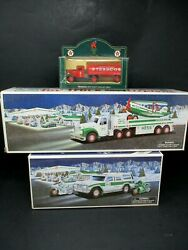 Vintage Hess Trucks 40th Anniversary 2004 2002 And Texaco Diecast Collectible
