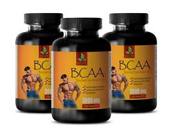 Lean Muscle - Bcaa 3000mg - Pre Workout Supplements - 3 Bottles 360 Tablets