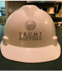 Extremely Rare White Authentic Trump Tower Hard Hat Full Brimandnbsp