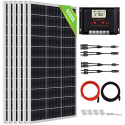 200w 400w 600w 800w Watt Solar Panel Kit For Battery Charge And Controller Home Rv