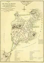 Revolutionary War - Boston Entrenchments - Page 1775 - 23.00 X 32.74