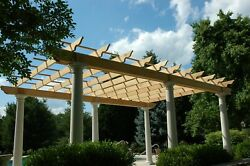 Freestanding Pergola Plans 10and039 X 20and039 Plans Only