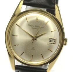 Girard Perregaux Gyromatic Antique Date Automatic K18yg Leather Menand039s Watch