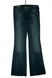7 For All Mankind Ladies Bootcut Stretch Jeans Rivets Pants W26 L34 Blue New GS5