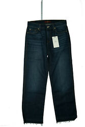 7 For All Mankind Women's Jeans Stretch Slim Cropped Pant GR.26 W28 L29 Blue New