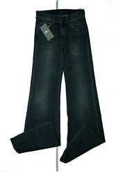 7 For All Mankind Ladies Bootcut Flare Stretch Jeans Pants W24 L36 Blue New GS5