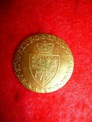 1787 Great Britain Gold Guinea Coin George Iii. Ef Condition