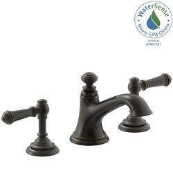 Bathroom Faucet 2-handle Lever Widespread Bell Design Oil Rubbed Bronze 8 In