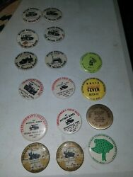 Lot Of 16 Button Pins Thresherman's Field Days..mixed