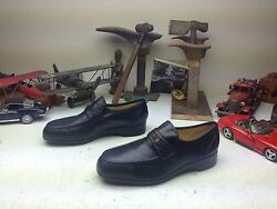 Lehigh French Shriner Usa Black Leather Engineer Boss Steel Toe Loafer Shoes 11w