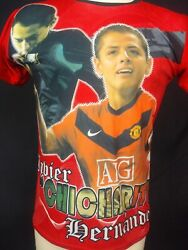 Chicharito Javier Hernandez Double Sided Graphic Soccer Jersy Size. M