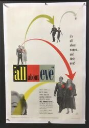 All About Eve Original Movie Poster Bette Davis - Monroe  Hollywood Posters