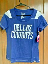 Rare Nwt Dallas Cowboys Club Collection Her Style Navy Ladies Womens T-shirt M