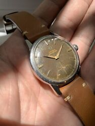 1960's Vintage Tropical Gilt Omega Seamaster Swiss Made 268 Watch Watches Steel