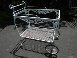 Rose Of Sharon Pattern Wrought Iron Decorative Tea/flower Cart/pickup Only