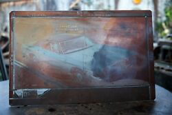 Rare Amazing Vintage 1970s Ford Motor Company Auto Ad Brass Printing Plate