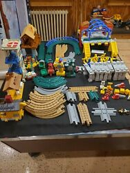 Fisher Price Geotrax Train Huge Lot Engine Remote Set 100 Plus Pieces