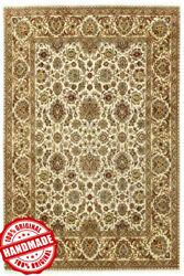Hand Knotted Wool Area Rug Handmade Dhyana Classic Agra Floral Carpets 8'x10'