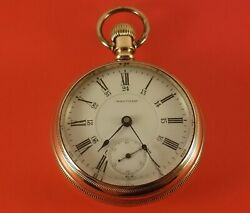 Antique Waltham Canadian Pacific Gold Fill Pocket Watch 17 Jewels 18 Size