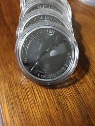 2019 Australia Dolphin 1 Oz Silver 1 Bu - Sold Out At Mint/dealers. From Roll