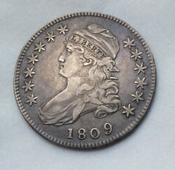 1809 Capped Bust Half Dollar 50c Rare Coin - Beautiful Coin 10562