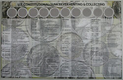 U.s. Constitutional Junk Silver Hunting And Collecting Coin Sorting Mat New