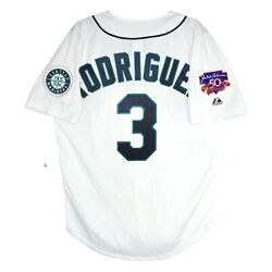 Alex Rodriguez Seattle Mariners 1997 Men's Home Jersey W/ Jackie 50th Patch