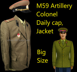 M59 Daily Soviet Army Jacket Artillery Troops Officer Lieutenant Colonel Cap