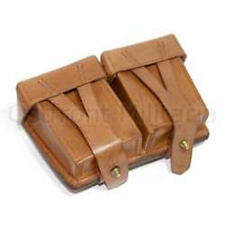Original Genuine Leather Mosin-nagant 91/30 Ammo Pouch Marked And Dated