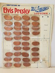 36 Elvis Presley Roll Out Cent Pressed Rolled Elongated Penny Pennies Souvenir