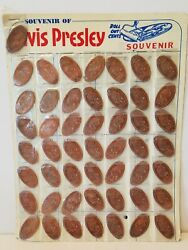 50 Elvis Presley Roll Out Cent Pressed Rolled Elongated Penny Pennies Souvenir