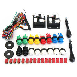 60 In 1 Kit With 2 Joysticks 4/8 Way 16 Happ Push Buttons For Mame Arcade Jamma