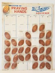 32 Praying Hands Roll Out Cents Pressed Rolled Elongated Penny Pennies Souvenirs
