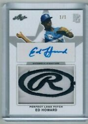 2019 Leaf Metal Perfect Game Ed Howard Rawlings Logo 1/1 Jersey Rc Auto Cubs