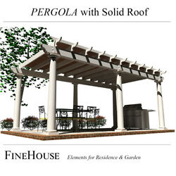 Covered Pergola Plans 10and039 X 20and039 Keep Out The Sun Rain And Snow