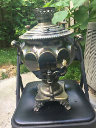 Russian Antique Silver Plated Samovar Norblin Factory