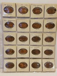 20 Automobiles Rolled Cents Pressed Elongated Penny Wheat Pennies Souvenirs L6