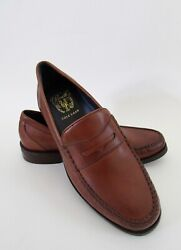 Cole Haan Pinch Maine Classic British Tan Leather Penny Loafers Sz 8.5