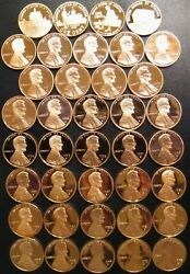 19752012 S Lincoln Penny Choice Gem Proof Run 41 Coin Decade Set Us Mint Lot
